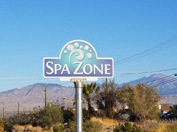 spa zone sign